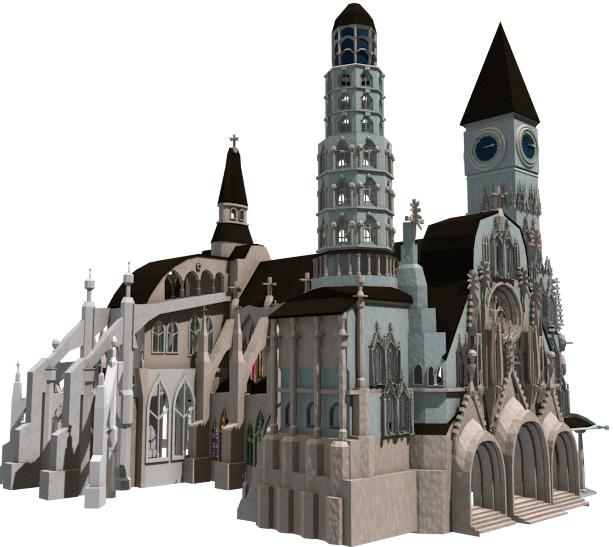 Kathedrale mit Blender