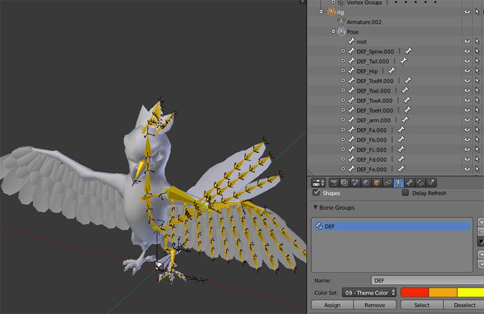 Blender Papagei