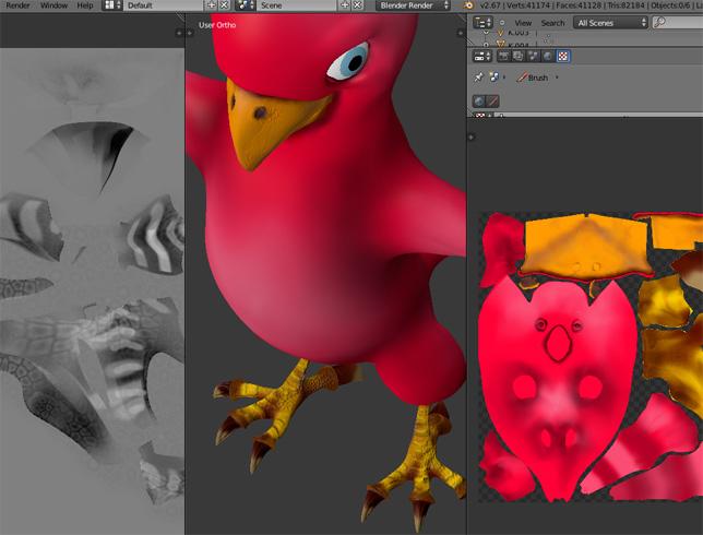 Papagei/Texturen