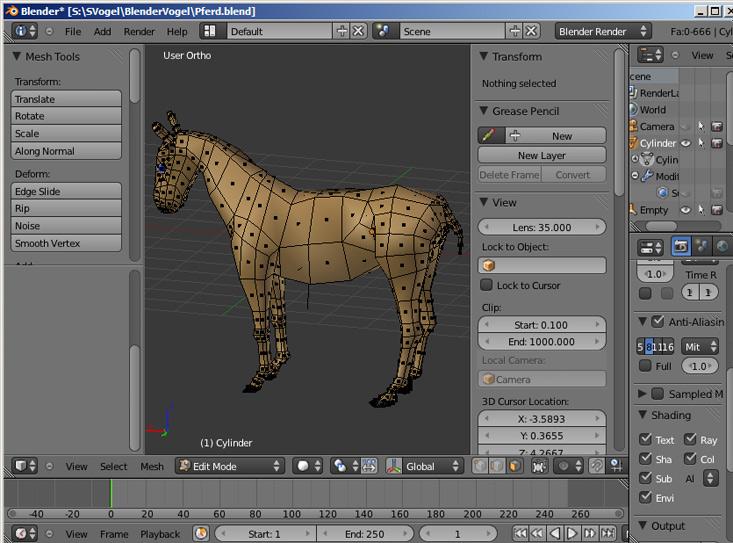 Blender Pferd